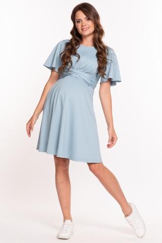 Платье для беременных и кормящих 10340 голубой