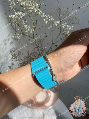 Ремешок Apple watch 42/44mm Leather Loop /cape cod blue/
