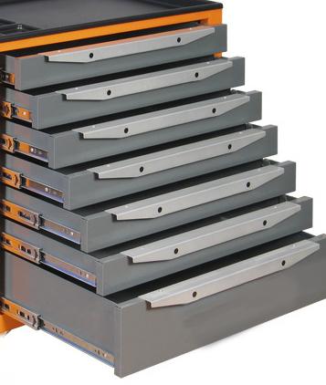 Тумба с 7 выдвижными ящиками для инструментов для усиленного верстака. Серия ТВК.
