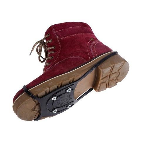 Противоскользящие накладки на обувь Ледоходы 4 шипа Размер 38-52 Чёрные