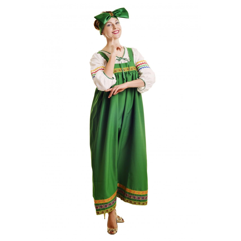 Костюм Барыня в зеленом сарафане