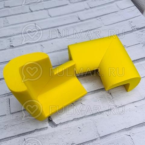 Защитные уголки на мебель 2шт Жёлтые