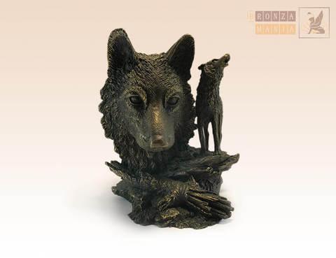 статуэтка Голова Волка, композиция
