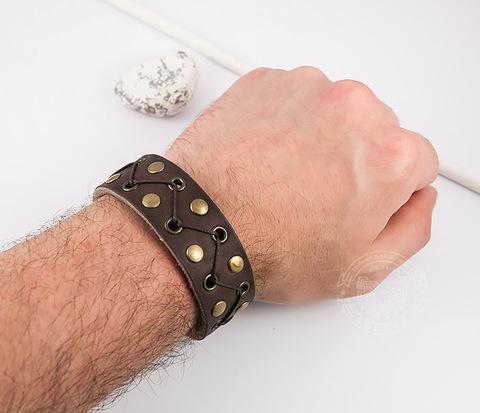 BL450 Оригинальный браслет с клепками, люверсами и шнуром