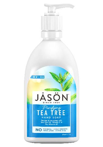Антибактериальное жидкое мыло с маслом чайного дерева, Jason