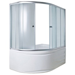 Шторка для ванны 1Marka Juliana 170х90х140 MS каркас хром, стекло Мислайт