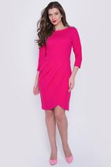 """<p>Супер платье для наших красоток! Отрезное по талии, юбка - фасон """"тюльпан"""" с драпировкой по переду. Рукав 3/4. Эффектный наряд на любое торжество.</p>"""