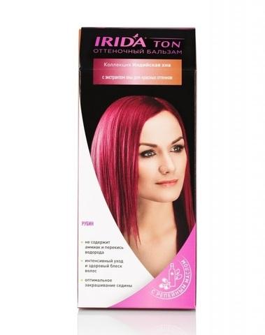 Irida Irida Ton Оттеночный бальзам для окраски волос Рубин 2*25мл