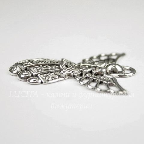 "Подвеска ""Ангел"" (цвет - античное серебро) 42х39 мм"