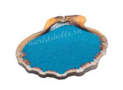 Декоративный песок голубой