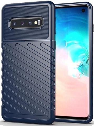 Чехол Samsung Galaxy S 10 цвет Blue (синий), серия Onyx, Caseport