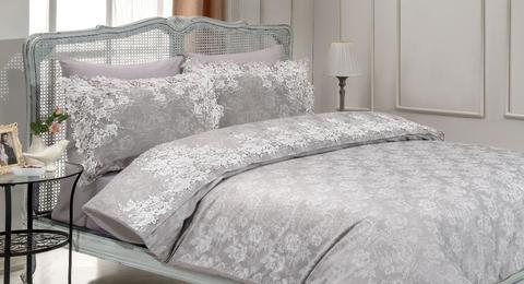 Постельное белье Gelin Home HAYAL серый евро