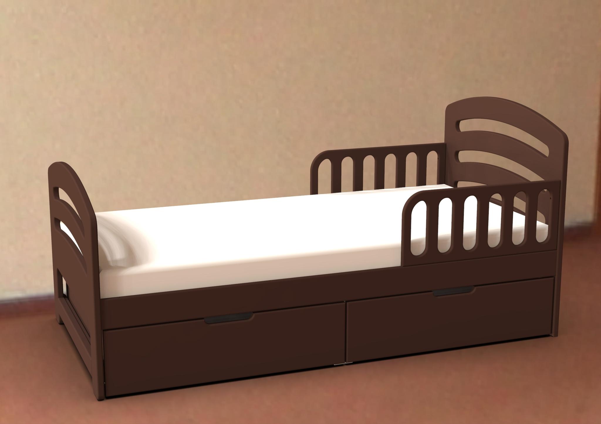 Кровать с ящиками Лахта Шоколад