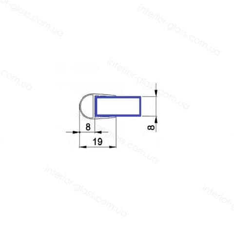 Уплотнитель для душевой кабины HDL-212 черный