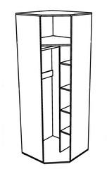Шкаф угловой Ольга 14