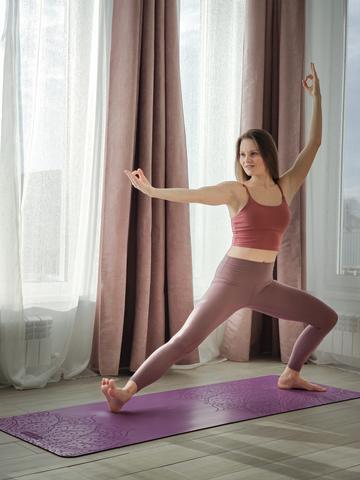 Каучуковый йога коврик Pro Om 185*68*4,5см