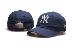 Кепка с вышитым логотипом  Нью-Йорк Янкиз (Бейсболка New York Yankees) синяя