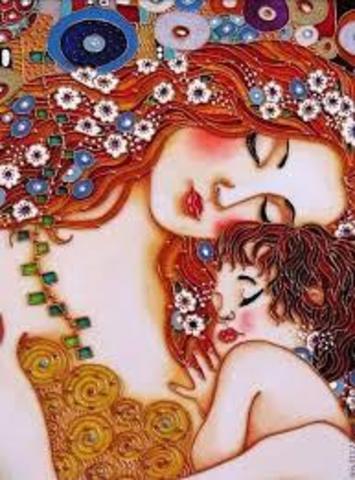 Картина раскраска по номерам 40x50 Мама с малышкой