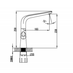 Смеситель KAISER Suer 46133 для кухни схема