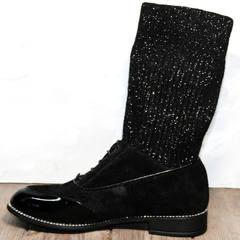 Модные женские полусапоги Kluchini 5161 k255 Black