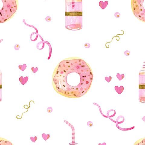 Пончики на белом фоне