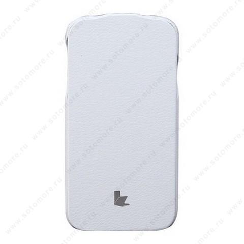 Чехол-флип Jisoncase для Samsung Galaxy S4 i9500/ i9505 белый JS-SM4-04H