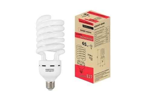 Лампа люминесцентная НЛ-HS-65 Вт-2700 К–Е27