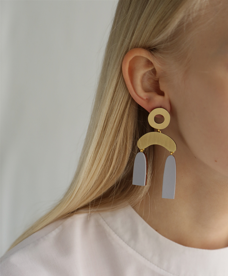 Серьги Balance Earrings Lavender