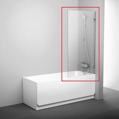 Шторка на борт ванны распашная 80х150 см Ravak BVS1 80 7U840A00Z1 фото
