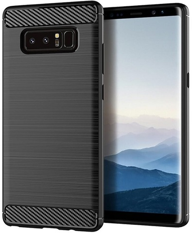 Чехол Samsung Galaxy Note 8  цвет Black (черный), серия Carbon, Caseport