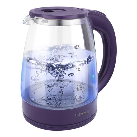 Чайник стеклянный LUMME LU-160 темный топаз