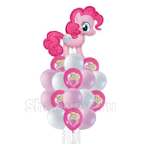 Букет воздушных шаров с гелием на день рождения девочки с Пинки Пай