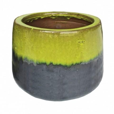 Кашпо Brooklyn Round (керамика), D18xH14см серо-зелёный