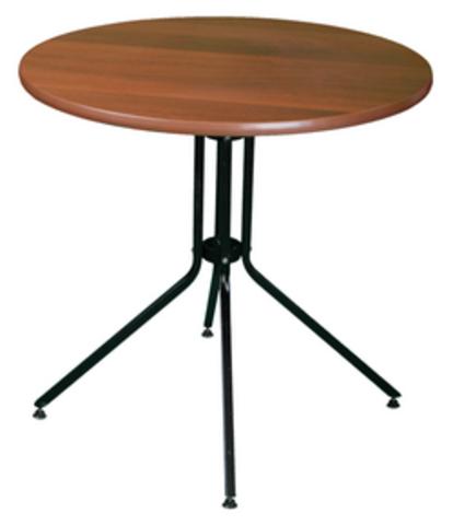 Стол обеденный круглый O770 подстолье черное ЛДСП