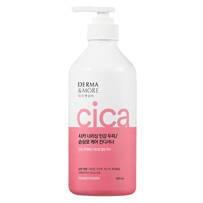 Кондиционер для поврежденных волос и чувствительной кожи головы KeraSys Derma & More CICA Nourishing Conditioner 600мл