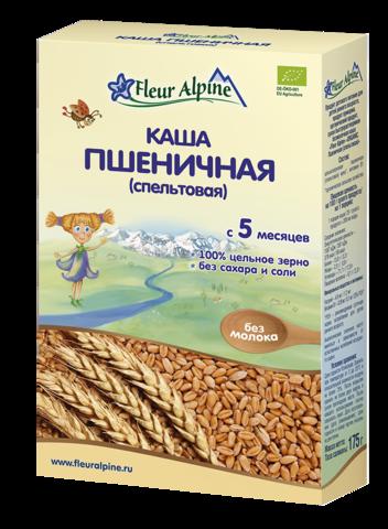 Каша Fleur Alpine Organic пшеничная (спельтовая) безмолочная