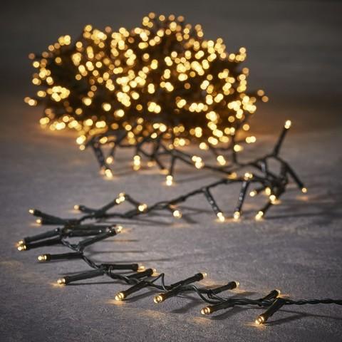 Гирлянда Luca Lighting теплый белый свет (550 ламп, длина гирлянды 1100 см) для ёлки 185 см
