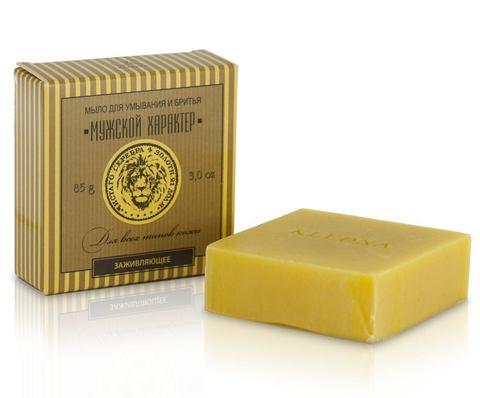 Мыло для умывания и бритья с маслом алтайской облепихи