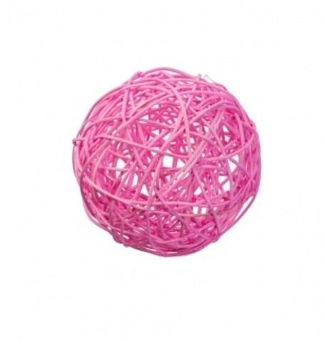 Плетеные шары из ротанга (набор:12 шт., d10см, цвет: розовый)