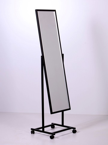 ТК-160-49 Зеркало напольное с колесами (черное)