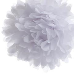 Помпон из бумаги 20 см белый