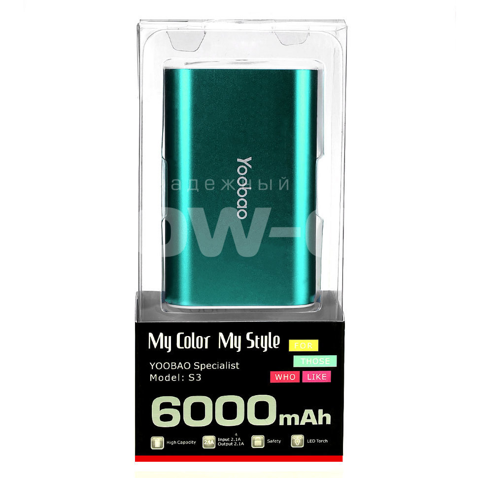 Power Bank Yoobao  S3 6000mAh оптом