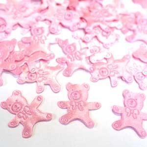 Конфетти атласное Медвежонок розовый 100шт