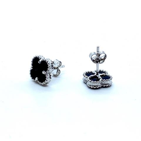 Серьги-пусеты Trendy-mini из серебра с агатом