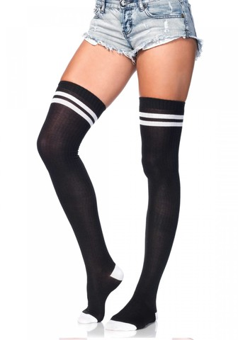 Чулки Ribbed Athletic Thigh Highs - Leg Avenue