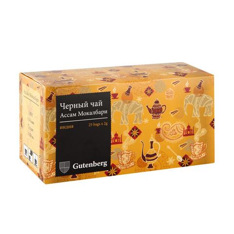 Ассам Мокалбари Чай черный пакетированный (25шт x 2гр.)