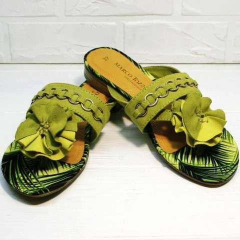 Вьетнамки шлепки женские Marco Tozzi 2-27104-20 Green.