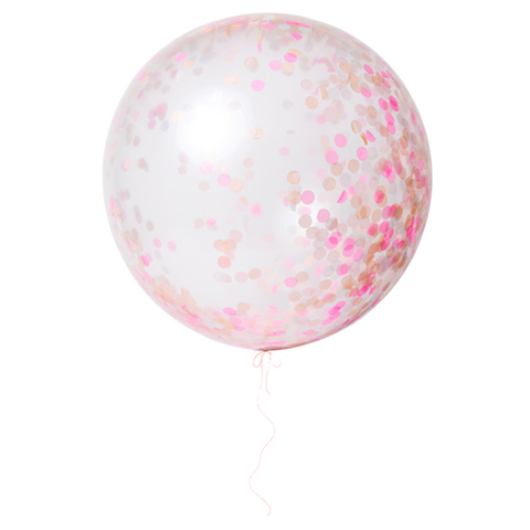 Воздушные шары с конфетти, розовые, бол.
