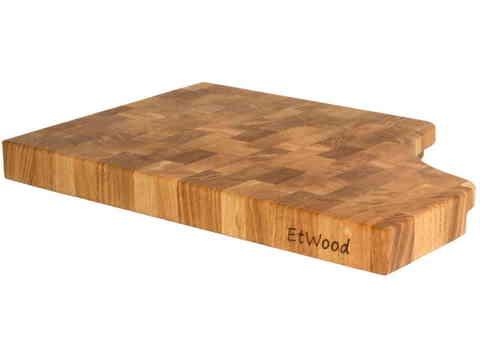 деревянная Торцевая разделочная доска 45х30х4 см дуб