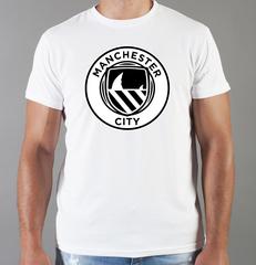 Футболка с принтом FC Manchester City (ФК Манчестер Сити) белая 008